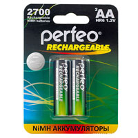 Perfeo NiMh AA HR6 1.2V 2700mAh Re-Chargeable Battery 2pcs (нажмите для увеличения)
