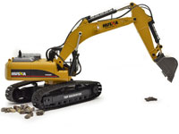 Huina Full Metal Professional RC Excavator 1:14 2.4GHz in Suitcase