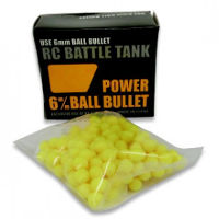 Heng Long Power Ball Bullets 6mm for RC Battle Tank