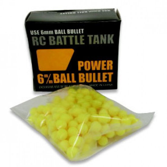 Пульки для танков HengLong Power Ball Bullets 6mm for RC Battle Tank TK-AC001 (18-077) (нажмите для увеличения)