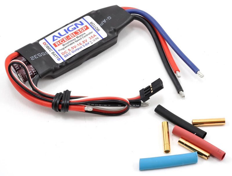 Регулятор скорости Align RCE-BL35P 35A Brushless ESC with Governor Mode (HES35P01T) (нажмите для увеличения)