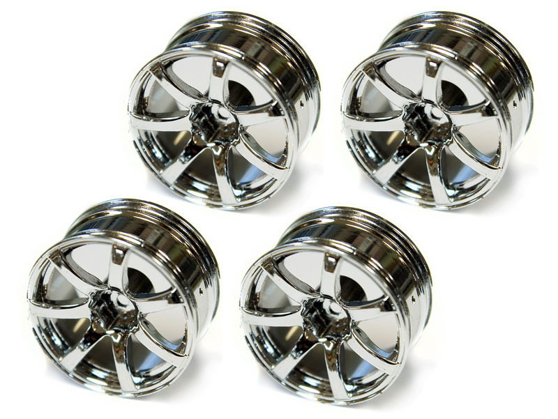 Диски металлические Austar 7-Spokes Aluminum Wheel Chrome 26mm 4pcs (AX-613) (нажмите для увеличения)