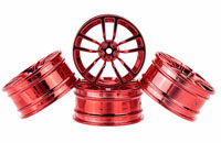 Austar 5-Double Spokes Aluminum Wheel Red Chrome 26mm 3mm Offset 4pcs