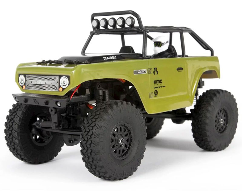 Радиоуправляемая машина Axial SCX24 Deadbolt Mini Crawler Green 1/24 2.4GHz RTR (AXI90081T2) (нажмите для увеличения)