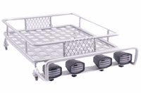 Austar 1/10 Scale Roof Luggage Rack Silver with LED Light Bar 167x112mm (нажмите для увеличения)