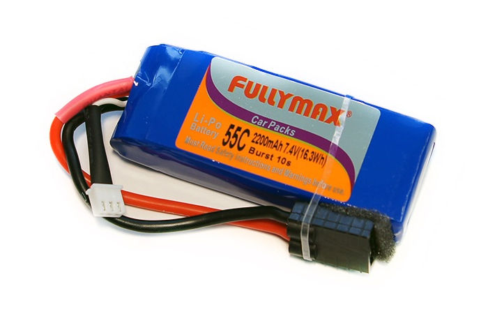 ����������� Fullymax 2S LiPo Battery 7.4V 2200mAh 55C with Traxxas Connector (FB2200-55C-7.4V-WB) (������� ��� ����������)