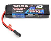 Traxxas Power Cell 2S LiPo Battery 7.4V 7600mAh 25C with iD Traxxas Connector