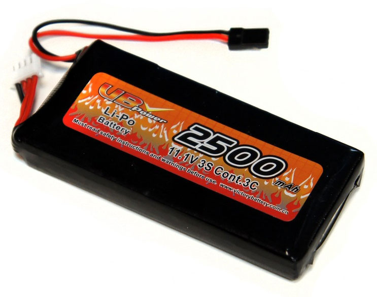 Аккумулятор передатчика VBPower TX Battery 3S LiPo 11.1V 2500mAh 3C Type-A (VB-TX-2500-A) (нажмите для увеличения)