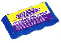 Ace Power NiMh Battery Pack 4.8V 1200mAh