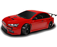 Lancer Evolution X E4D Touring Car Drift Spec 2.4GHz RTR