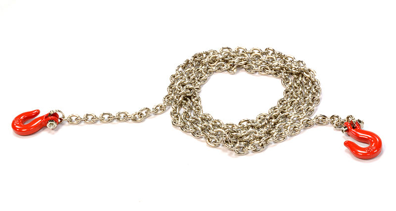 Цепь с крюками Integy Realistic 1/10 Scale Metal Drag Chain with Tug Hooks Red (INT-C25762RED) (нажмите для увеличения)