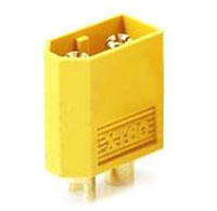 Коннектор XT60 Male Yellow Color 3.3mm Connector (AM-1010C-M)