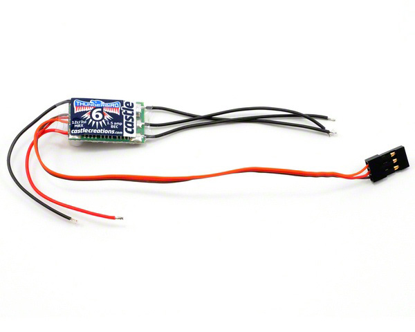 Регулятор скорости Castle Creations Thunderbird 6A Brushless ESC (CSE-010-0055-00) (нажмите для увеличения)