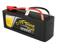 GensAce Tattu Plus LiPo Battery 6s1p 22.2V 12000mAh 15C XT150+AS150 (нажмите для увеличения)