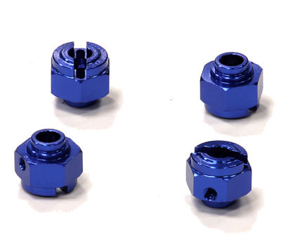 Колёсные хабы Integy Billet Machined Alloy Hex Wheel Hub 12mm Blue Savage XS 4pcs (INT-T5010BLUE) (нажмите для увеличения)