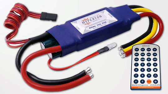 Электронный регулятор Hyperion Atlas 60A 6S ESC Switching BEC (HP-ATLAS-060SB) (нажмите для увеличения)