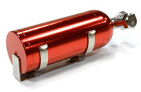 Realistic 1/10 Scale Alloy Nitrous Bottle with Mounting Bracket Red (нажмите для увеличения)
