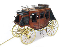 Artesania Latina American Stage Coach 1848 Wooden Model Kit 1/10