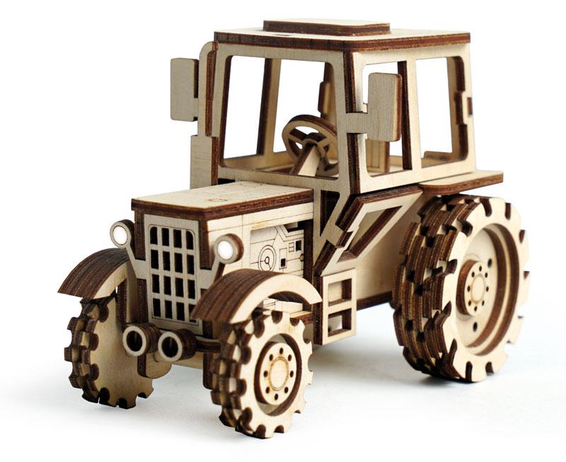 Деревянный трактор своими руками 191