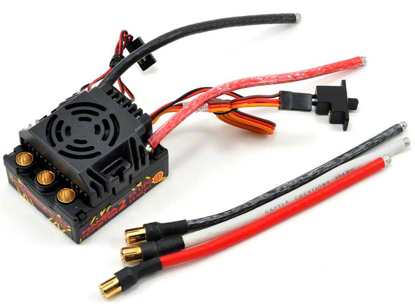 Регулятор скорости Castle Creations Mamba Monster 2 Waterproof ESC 120A (CSE-010-0108-00) (нажмите для увеличения)
