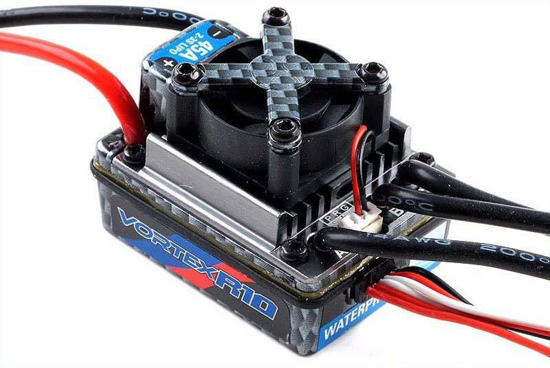 Регулятор скорости Team Orion Vortex R10 Sport WP Brushless ESC 45A 2-3S (ORI65113) (нажмите для увеличения)