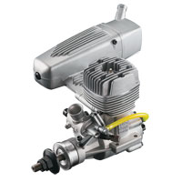 OS Max GGT15 15cc Gasoline Engine with E-4040 Silencer (нажмите для увеличения)