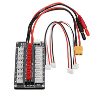 G.T.Power 2-3S LiPo Parallel Charging Board JST Plug (нажмите для увеличения)