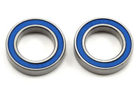Ball Bearings 15x24x5mm Blue Rubber Sealed 2pcs