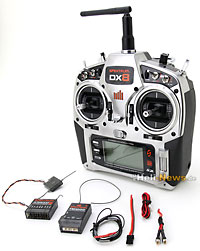 Spektrum DX8 System with AR8000 + TM1000 without Servo MD2 2.4GHz
