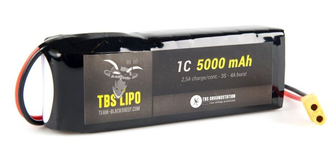 Аккумулятор TBS LiPo Battery 3S 11.1V 5000mAh Groundstation 1C XT-60 (TBS-GS-5000-3S) (нажмите для увеличения)
