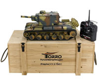 KV-2 754(r) Panzerkampfwagen Airsoft RC Tank PRO 1:16 Metal with Wooden Box 2.4GHz