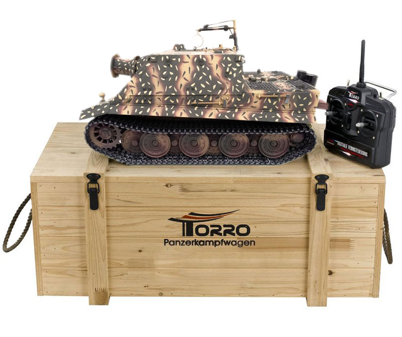 Радиоуправляемый танк Torro Sturmtiger RW61 IR RC Tank PRO 1:16 Metal with Wooden Box 2.4GHz (TR1111700301) (нажмите для увеличения)