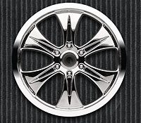 Velocity 6 3.8in 40 Series Chrome Zero Offset HEX14mm Wheels 2pcs