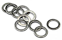 Washer 4x6x0.3mm Silver 10pcs