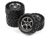 Mounted VT Tire / Wheel Set Mini Recon 4pcs