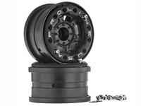 Titus 2.2 Bead Lock Wheels Black/Black without Weights Hex 12mm 2pcs