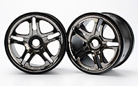 Wheels SS Split Spoke 3.8 Black Chrome Revo/Maxx 2pcs